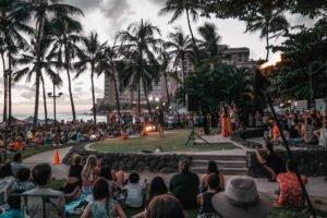 Musik am Waikiki Beach