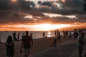 Sonnenuntergang Oahu