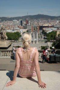 Blick vom Museu Nacional d'Art de Catalunya