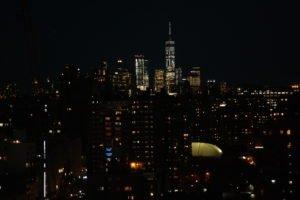 Zimmerausblick bei Nacht