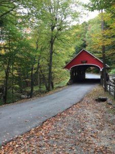 Überdachte Brücke im The Flume